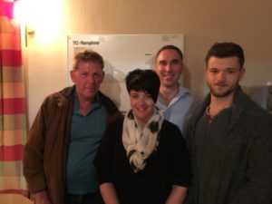v.l.n.r.: Wolfgang Blank, Steffi Barhainksi-Schaffer, Stefan Jaworek und Patrick Fanger